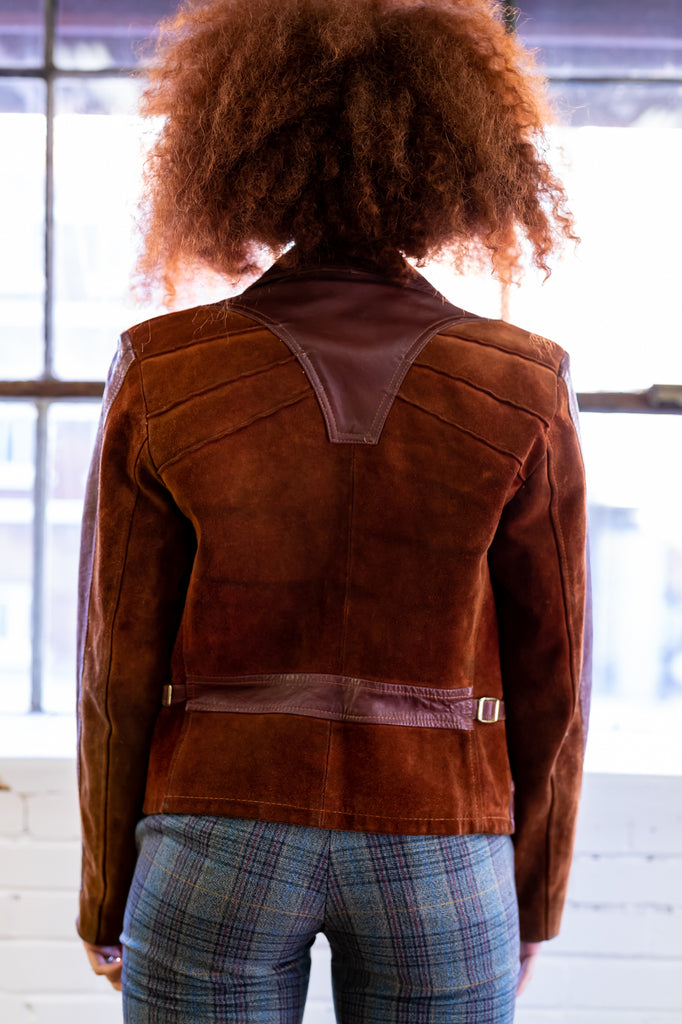 70's, Vintage, Suede & Leather Jacket (Women's Medium)