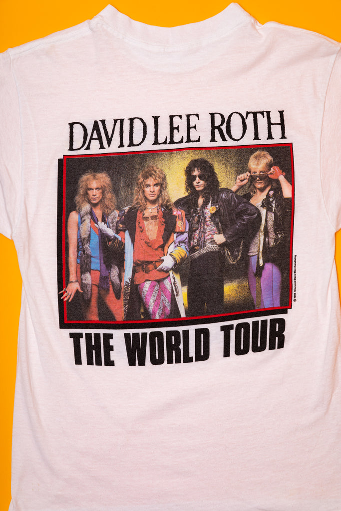 Vintage 1986, David Lee Roth, Van Halen, The World Tour T-Shirt (men's Small)