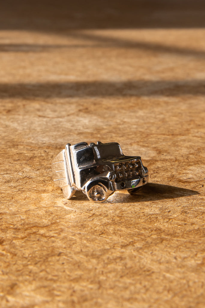 "Vintage Sterling Silver ""Truck Lover"" ring"