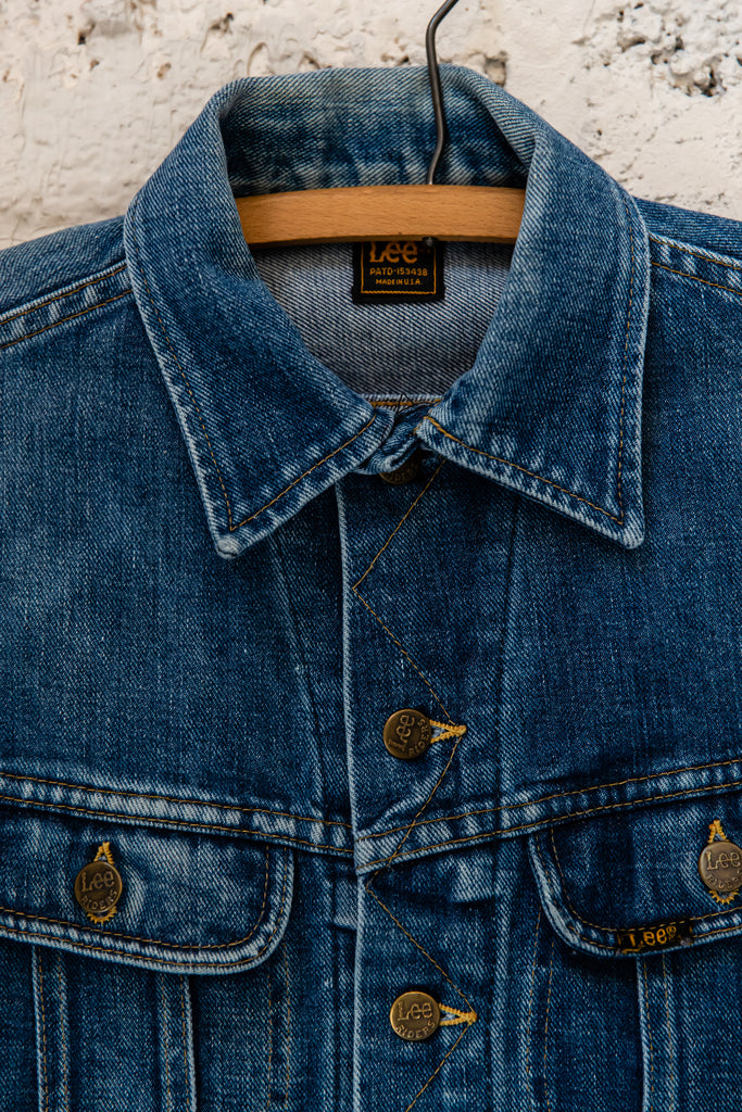 1970's Vintage, Lee Riders Union Made U.S.A Jean Jacket, Women's Small United Garment Workers of America