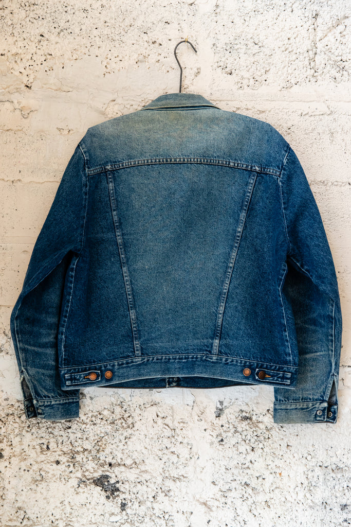Vintage Rustler, Denim Jean Jacket, Mid-Washed, made in U.S.A. (Men's Large)