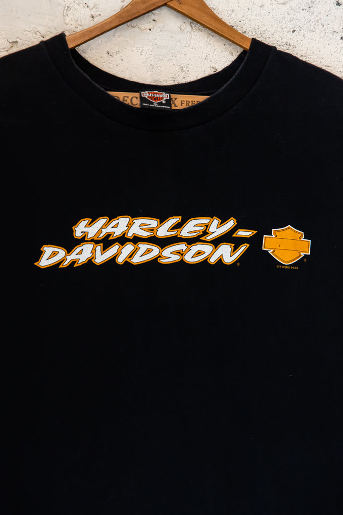 "1990's, Vintage,Harley-Davidson, ""J & L"", Sioux Falls, South Dakota, Logo front, Sleeveless Shirt, (Men's X-Large)"