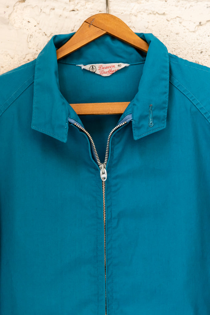 1980's Vintage, Deacon Brothers Teal Garage Work wear Jacket (Men's S)