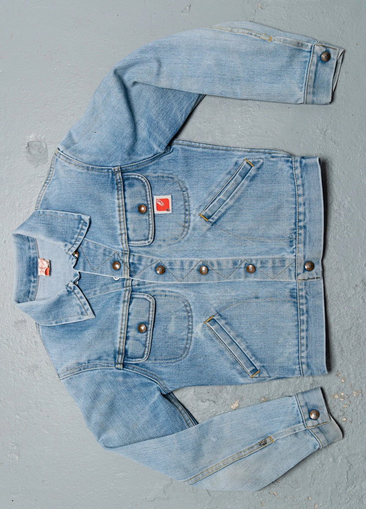 1970 Vintage lightwash GWG Denim Jean Jacket
