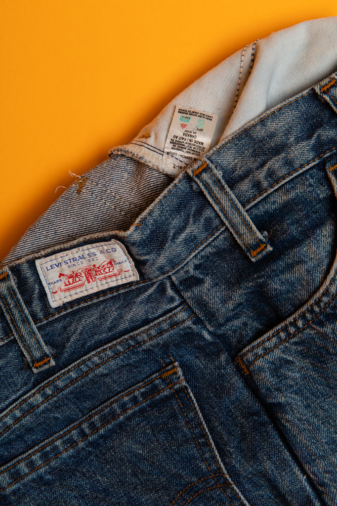 1970's, Levi's, Orange Tab, High Waist, Bell Bottom, Medium Wash Jeans, (W27-28)
