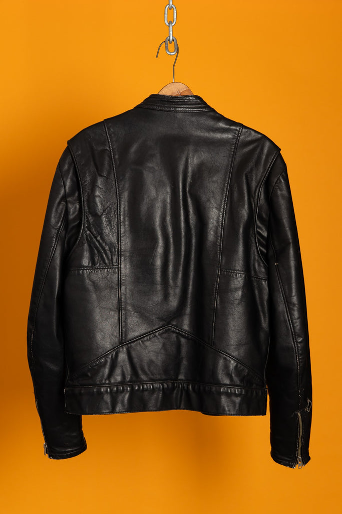 1980's, Vintage, Cafe Racer Moto Biker Leather Jacket (Men's Small)