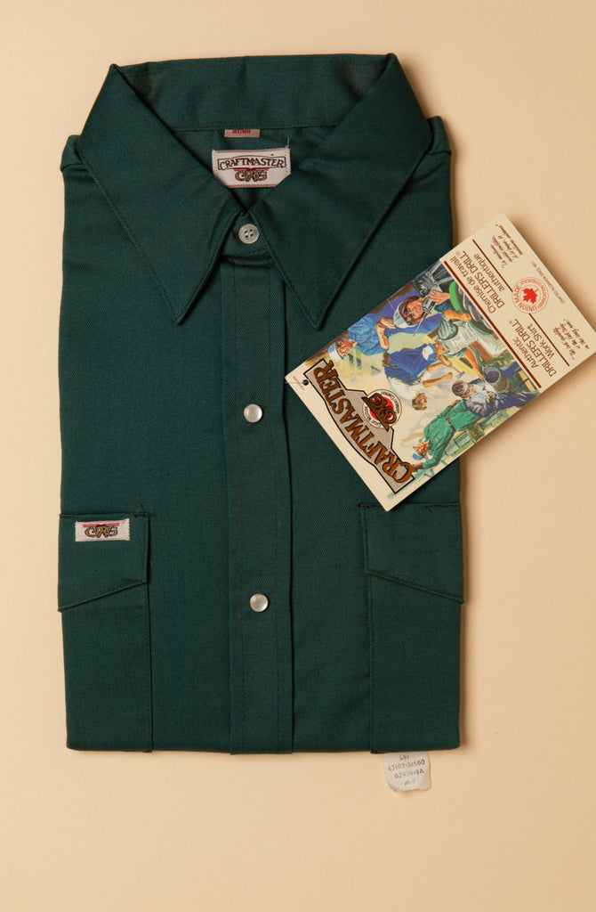 Vintage, Dead stock, GWG, workwear, Union Made, Button Up Shirt (Men's Tall Medium - Green)