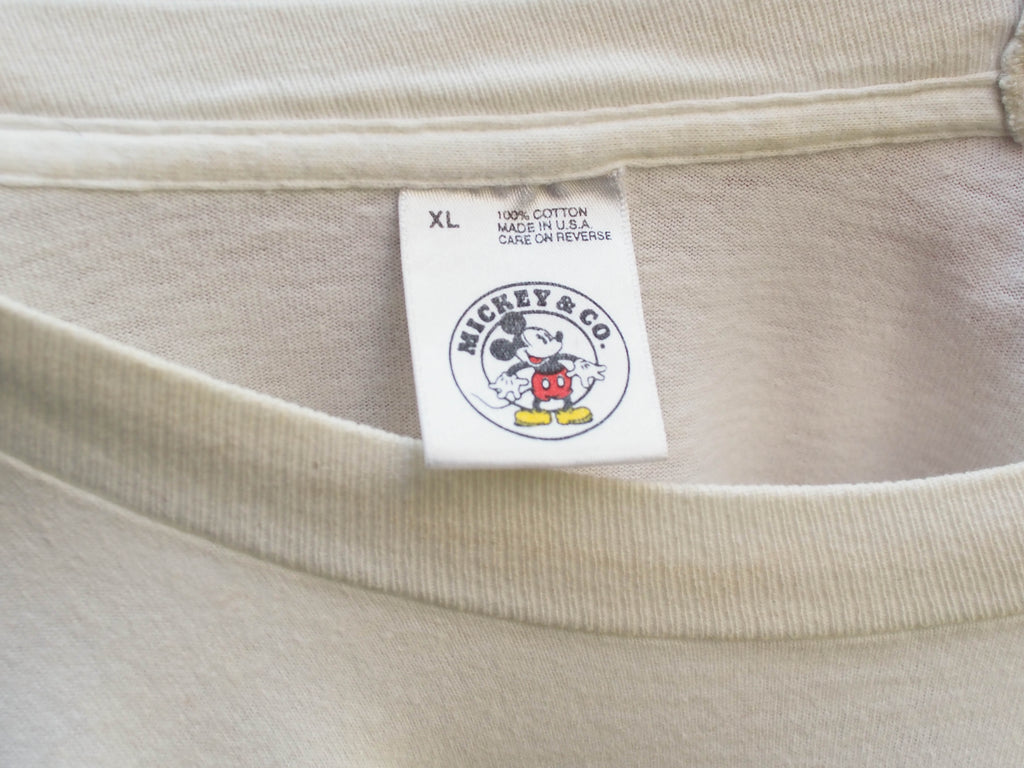 90's, vintage, Originial Mickey & co, Mickey Mouse 3d Graphic, White, Single Stitch, T-shirt (men's Large)