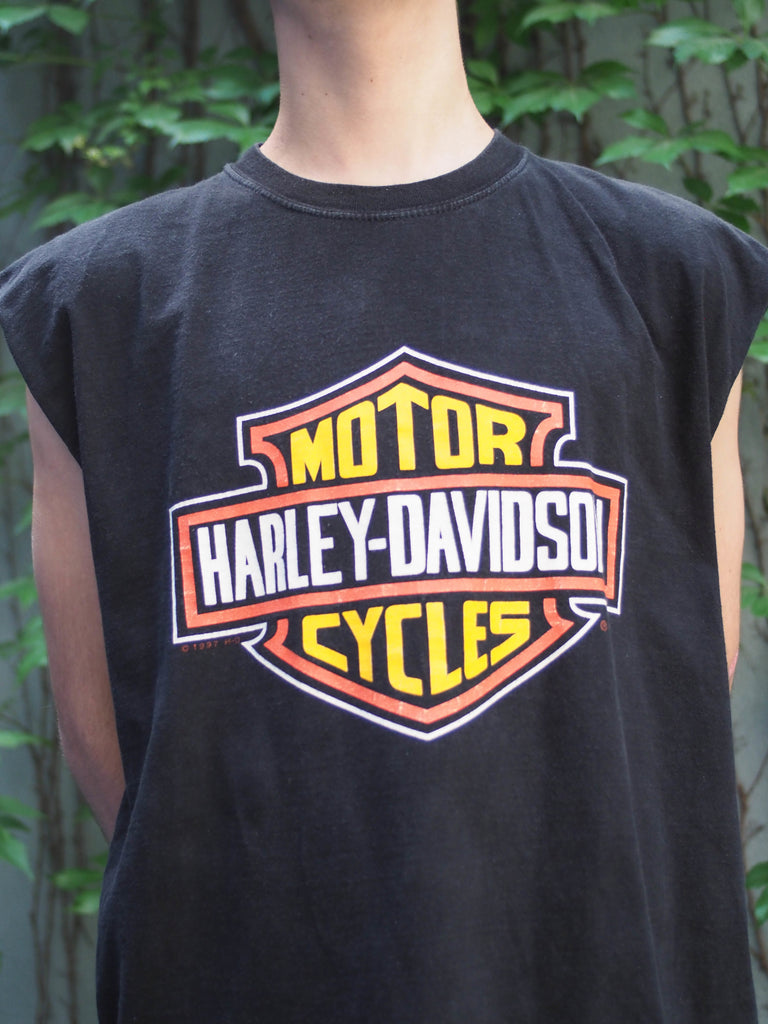 90's, Vintage, Harley-Davidson, U.S Virgin Islands, Sleeveless, Tank Top, (Men's Large)