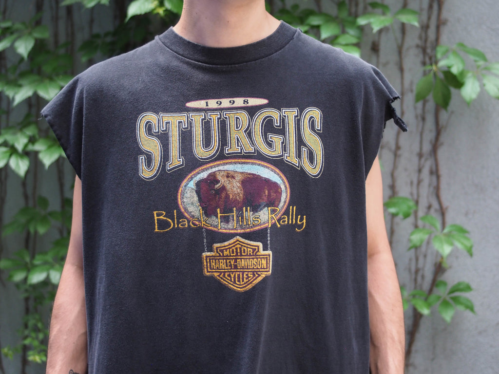 90's, Vintage, Harley-Davidson, Sturgis, Black Hill, Rally '98, Sleeveless shirt, (men's Large)