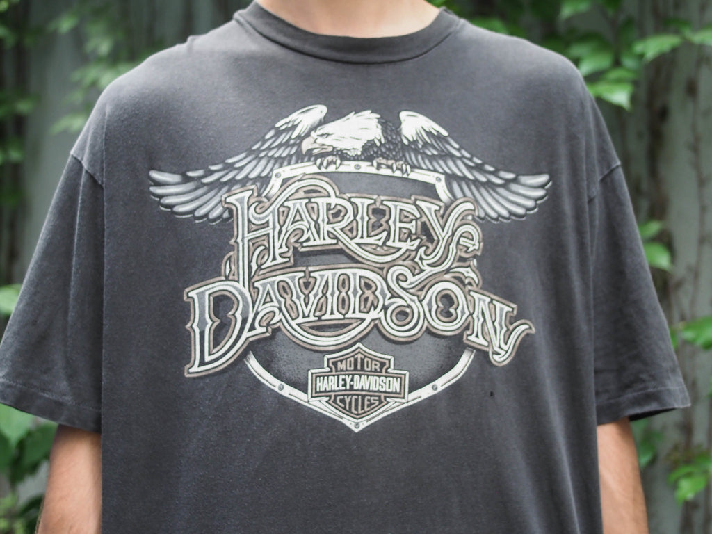 90's, Vintage, Harley Davidson, Chicago, Il, Eagle, single stitch, T-shirt, (men's Large)