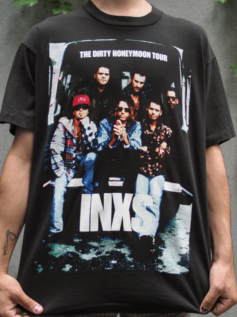 90's, Vintage, INXS, The Dirty Honeymoon Tour, '94, single stitch, t-shirt (men's Large)