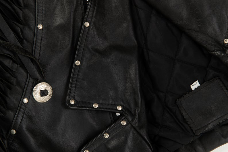80's, Vintage, DEAD STOCK, Fringe, Rock'n' Roll, Leather Jacket