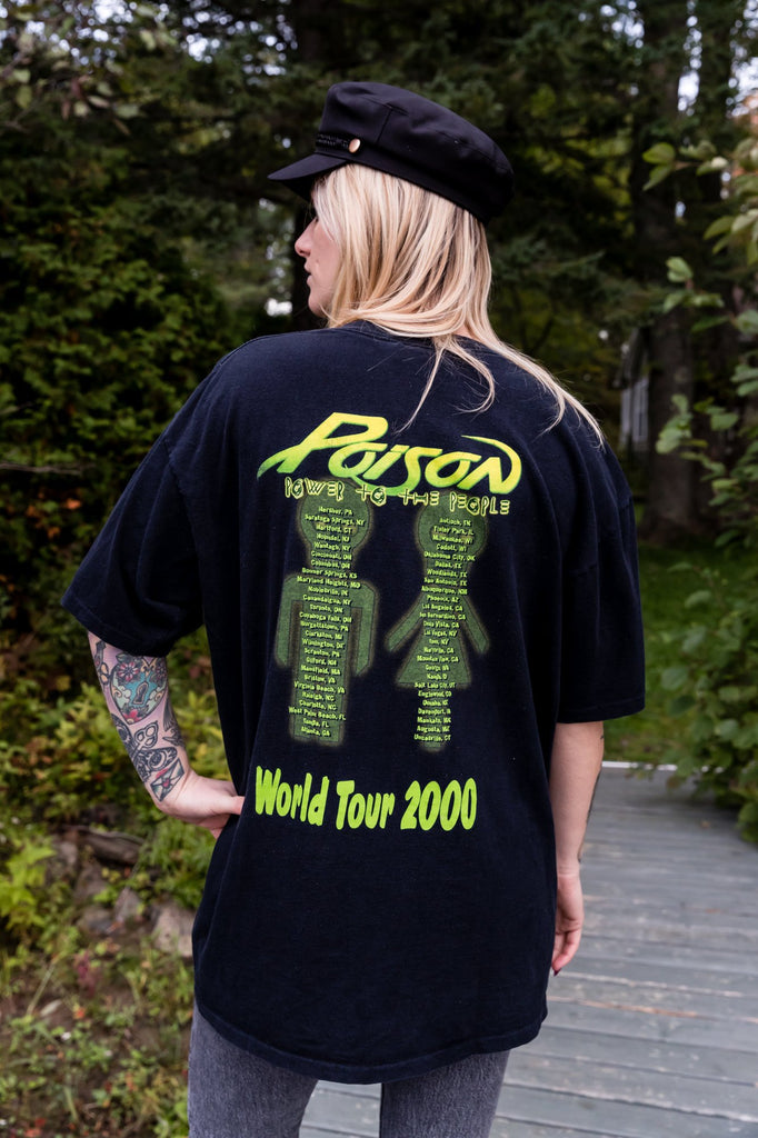 Vintage : POISON ''Power To the People World Tour'' T-shirt