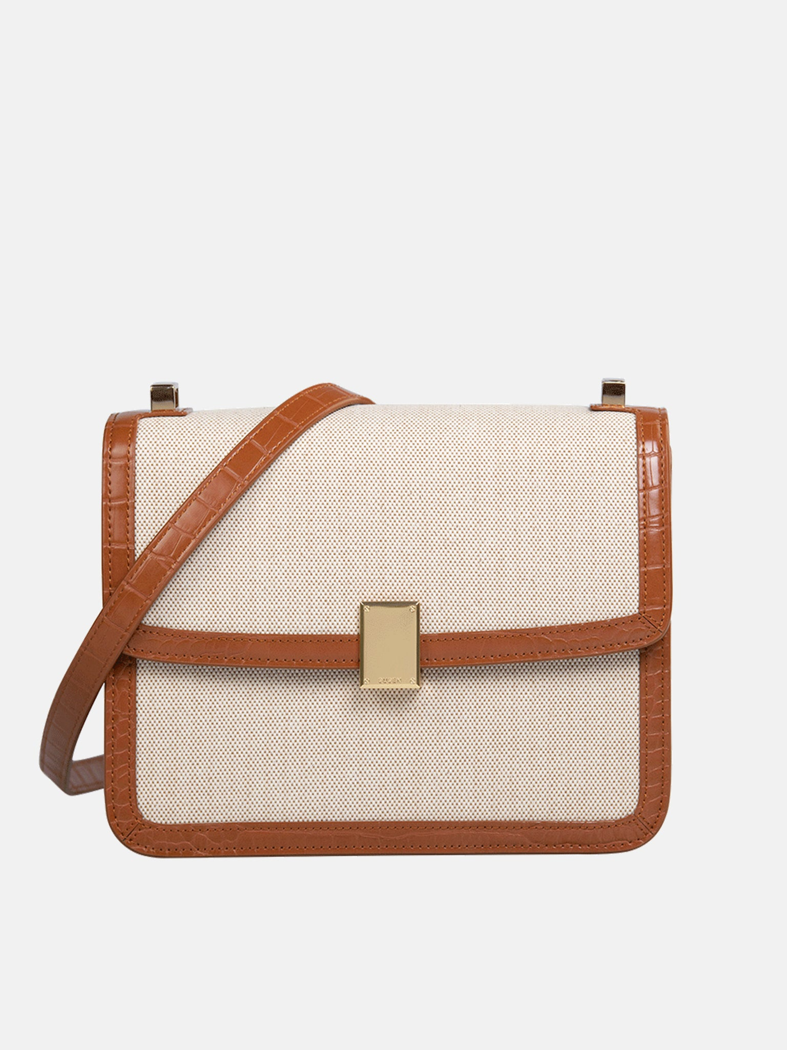 Canvas Square Bag - Brown