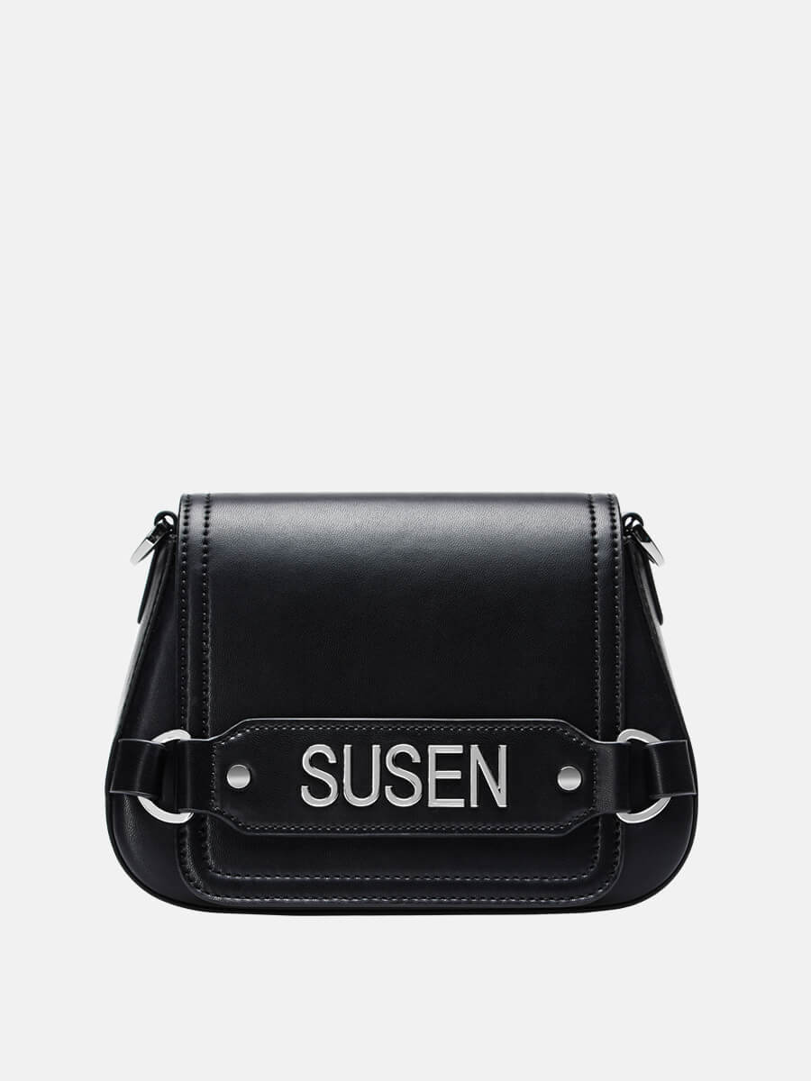 SUSEN Saddle Shoulder Bag Crossbody Purse Black | SUSEN-www.susen.com