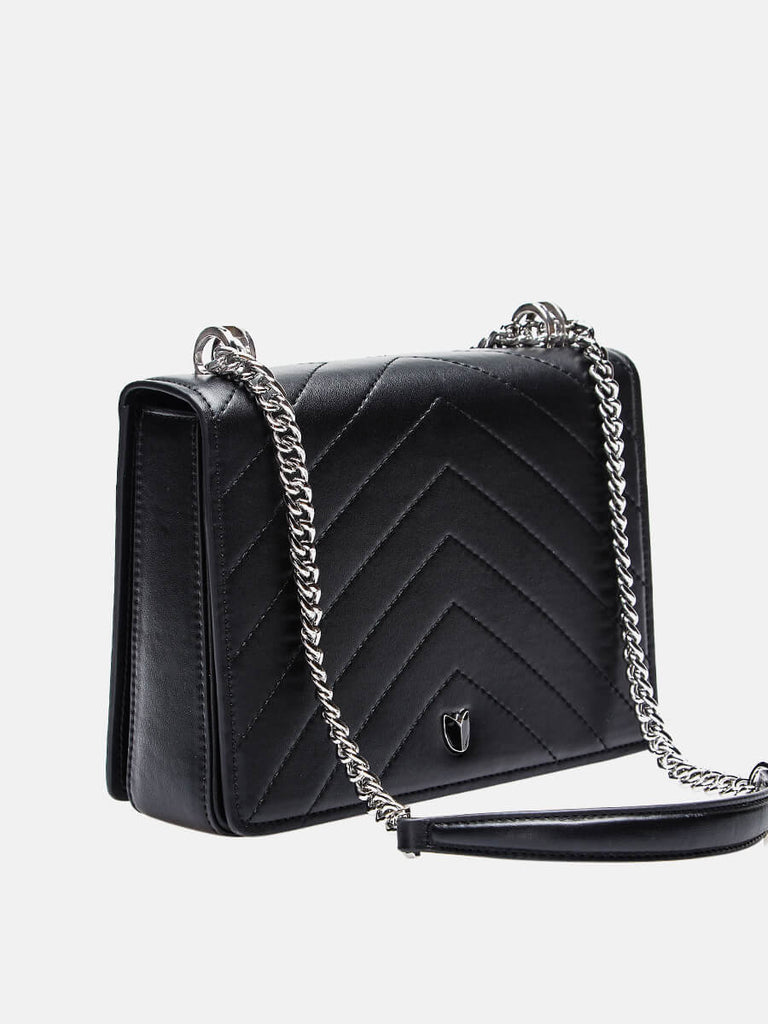 Lady Small Classic Clutch Crossbody Bag With Chain Strap Black|SUSEN | Susen