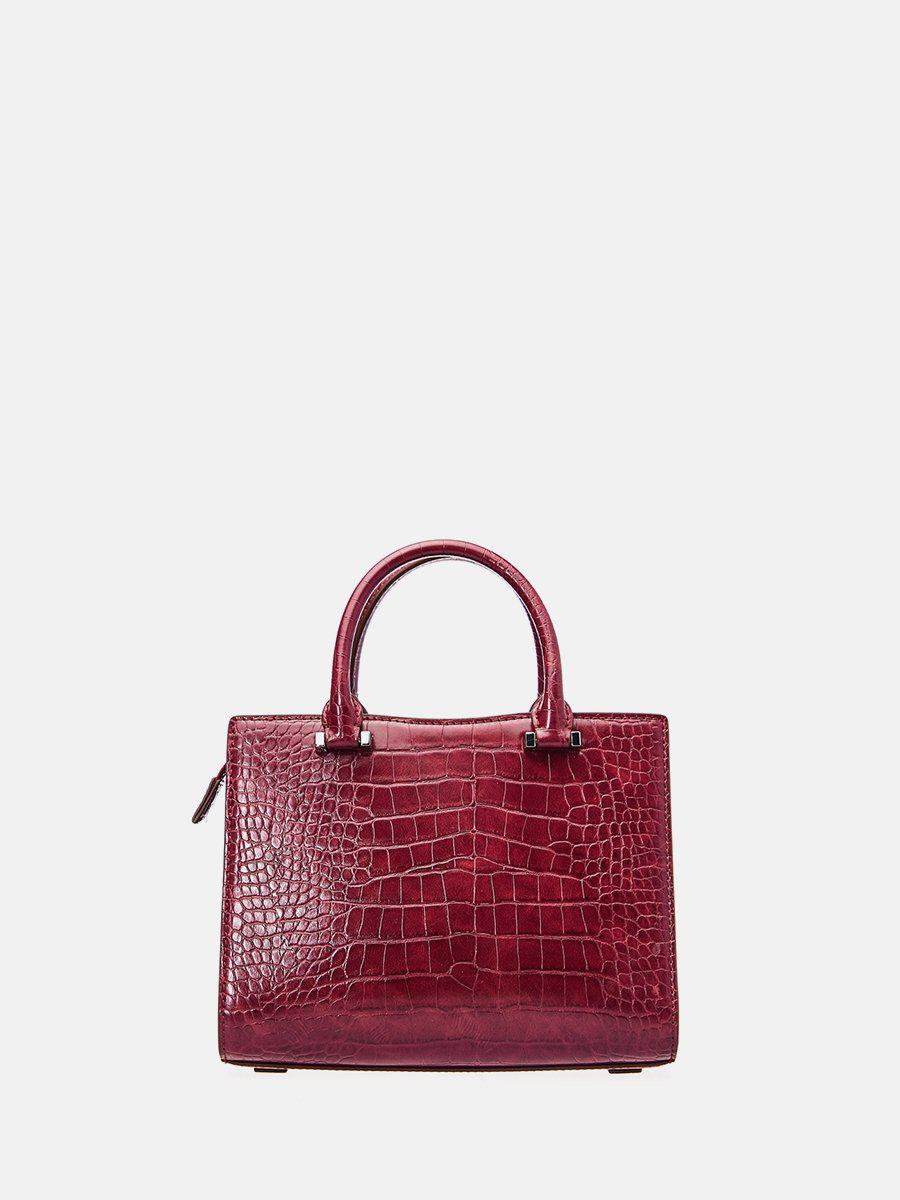 Croc-Top Handle bag