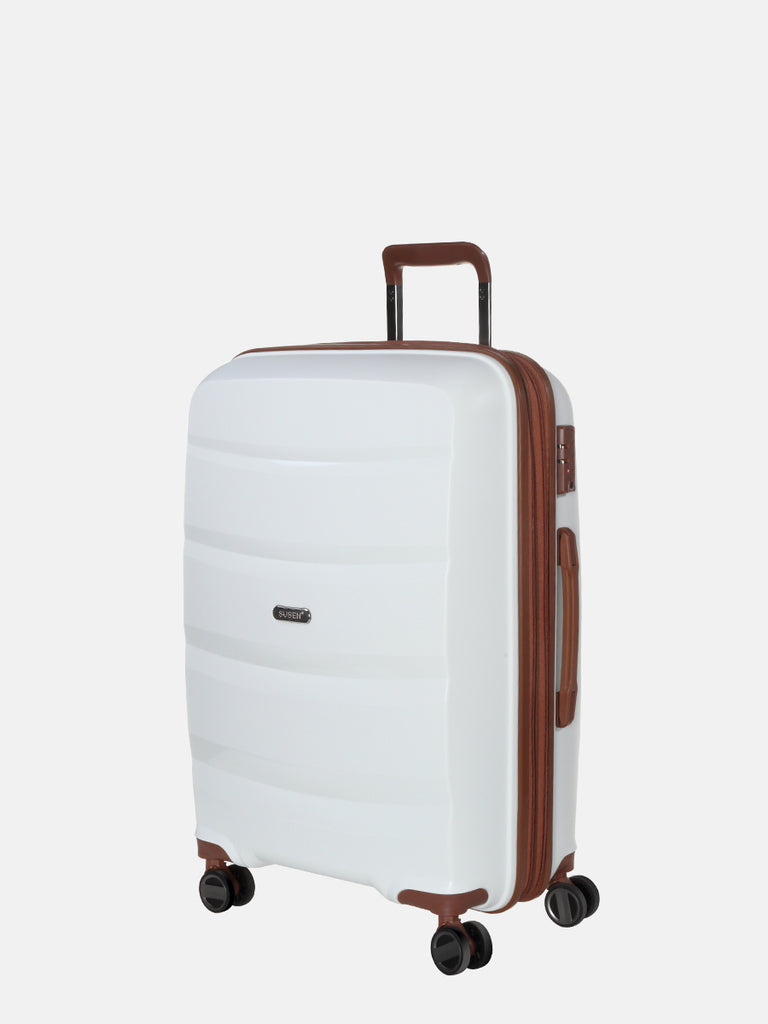 SUSEN 24'' Medium Suitcase White | SUSEN-www.susen.com