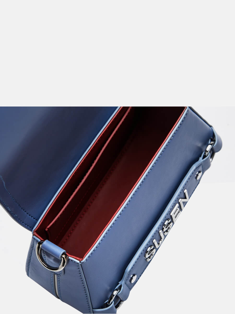 SUSEN Saddle Shoulder Bag Crossbody Purse Blue | SUSEN-www.susen.com