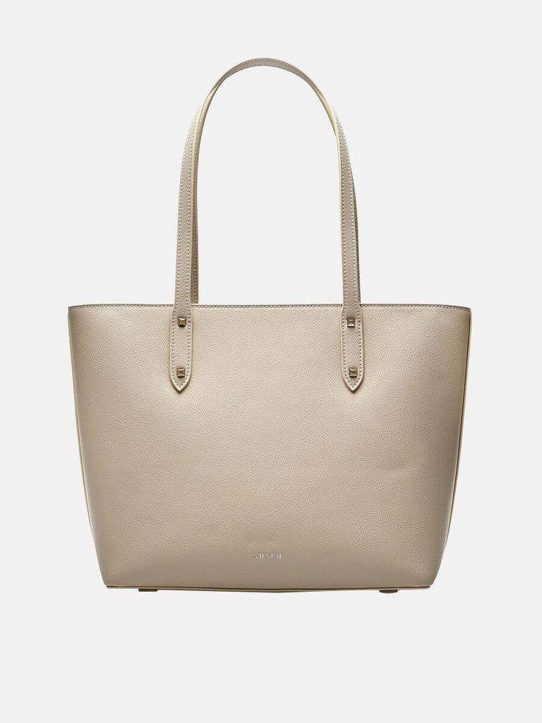 Women's Large Tote Purse Shoulder Bag Beige|SUSEN | Susen