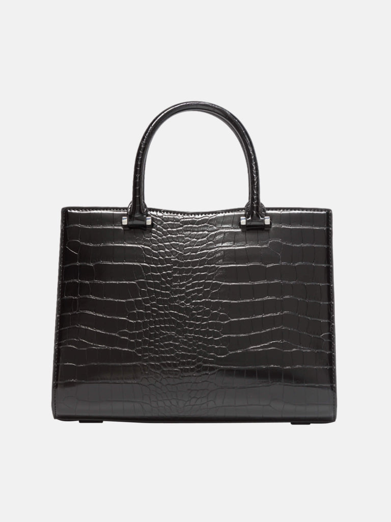 Small Women Handbag Croc Shoulder Bag Black|SUSEN | Susen