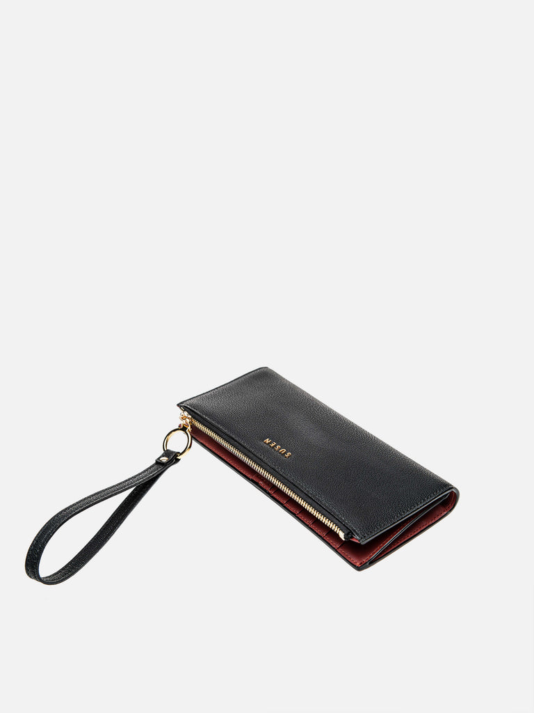 Checkbook Zipper Wallet - Black