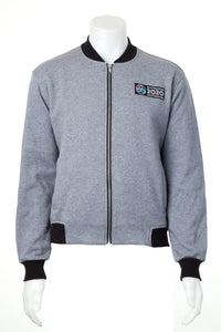 AWG Men's Poly Cotton Fleece Bomber Jacket