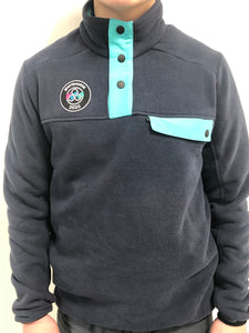 AWG Men's Retro-Snap Fleece Pullover