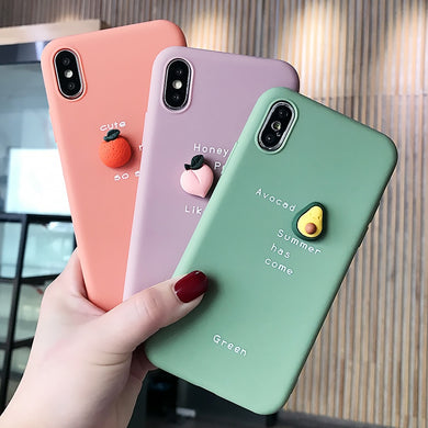 Lovely Cute 3D Pattern Phone Case  iPhone XS Max XR X 8 7 6 6S Plus