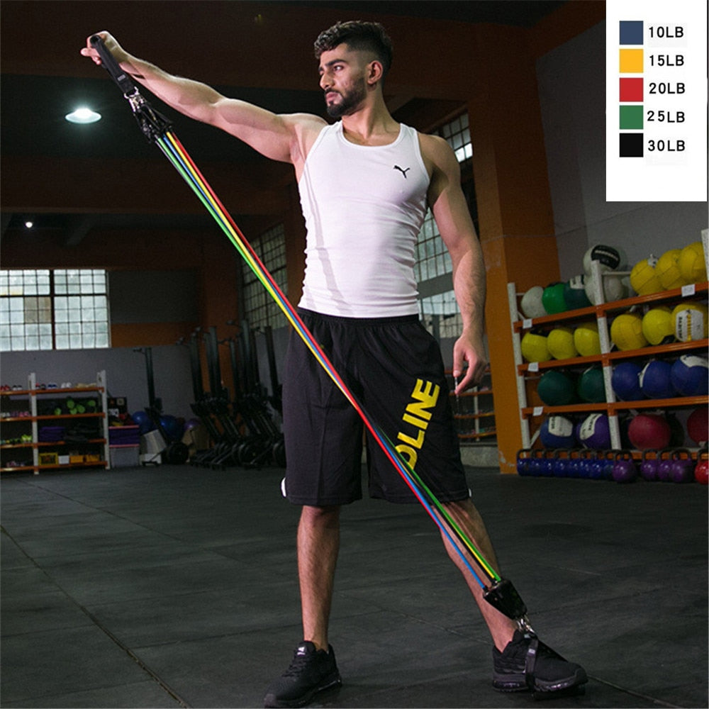 Home Gyms Resistance Bands Set Expander Rubber Band Stretch Workout