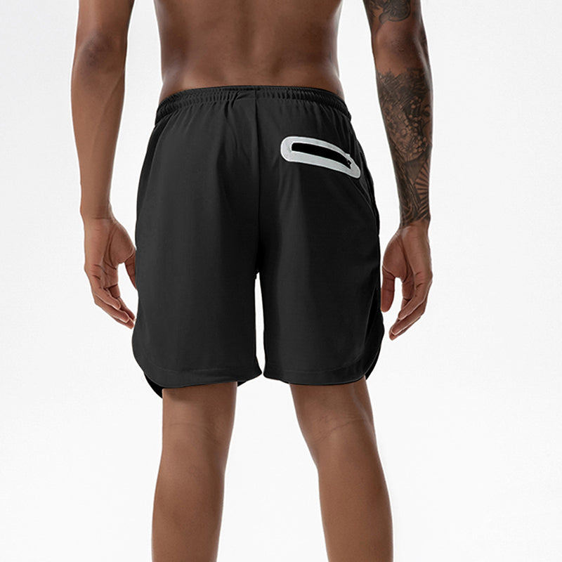 Men's 2 in 1 Joggers Shorts Security Pockets