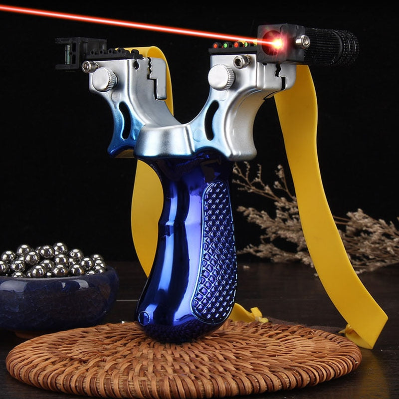 Big Power High Precision  Laser Aiming Hunting Slingshot