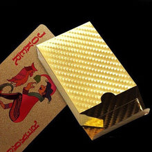 24K Gold Playing Cards Poker Game Deck Gold Foil Poker Waterproof Cards Magic