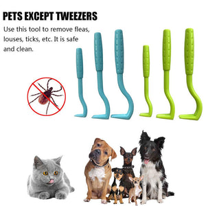 3PCS Pet Flea and Tick Remover Tool Scratching Hook