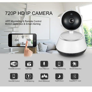 720P HD Wireless Wifi IP Camera Home Security Surveillance With Night Vision