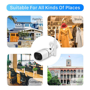 BESDER 1080P HD Wifi IP Camera Two Way Audio Security CCTV Camera Ai Detection Outdoor Wireless Camera TF Card