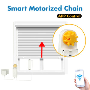 DIY Automatic Smart Motorized Chain Roller Blinds Shade Shutter Drive Motor Powered By Solar Panel Charger Bluetooth APP Control