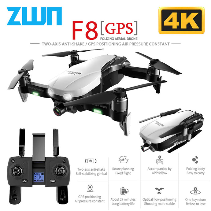 F8 GPS Drone with Two axis anti shake Self stabilizing gimbal Wifi FPV 1080P 4K Camera Brushless Quadcopter  Vs Zen K1 SG906 on AliExpress