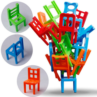 Family Board Game Children Educational Toy Balance Stacking Chairs Chair Stool