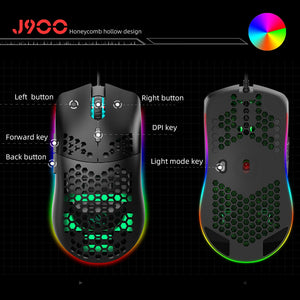 USB Wired Gaming Mouse RGB Gamer Mouses