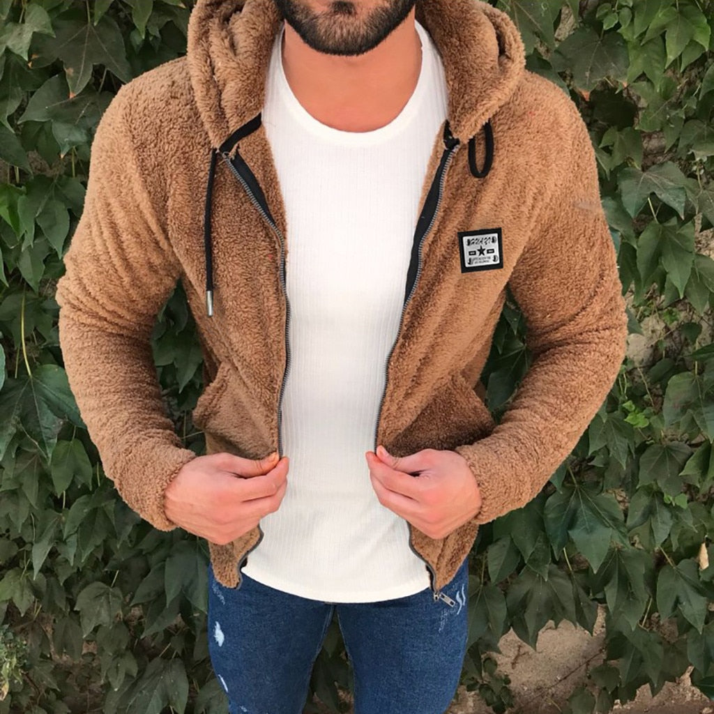 Jacket Men's Sweater Warm Hooded Coat Autumn Winter Casual