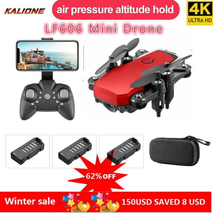 LF606 Wifi FPV Foldable RC Drone with 4K HD Camera Follow Altitude Hold 3D Flips Headless RC Helicopter Mini Aircraft Kid's Toys on AliExpress