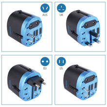 NTONPOWER Universal Travel Adapter All in One International Power Adapter Socket Charger with 2 USB Ports Works in 150+Countries-