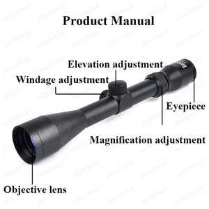 OPTICS 3-9X40 Tactical Riflescope Optic Sniper Deer Rifle Scope Hunting Scopes Airgun Rifle Outdoor Reticle Sight Scope