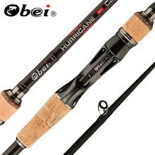 Obei HURRICANE 1.8m 2.1m 2.4m 2.7m 3 section baitcasting fishing rod travel ultra light casting spinning lure 5g 40g M/ML/MH Rod