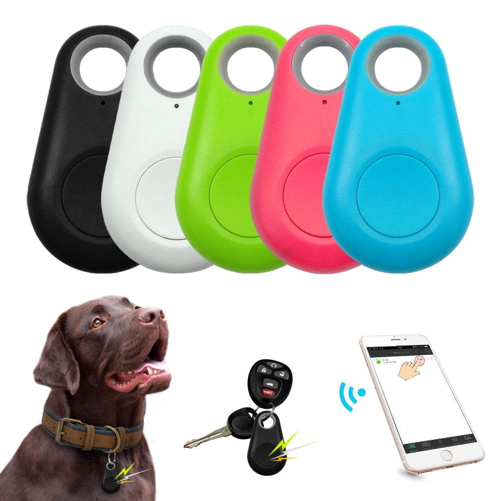 Pet Smart GPS Tracker Mini Anti Lost Waterproof Bluetooth Locator Tracer For Pet Dog Cat Kids Car Wallet Key Collar Accessories