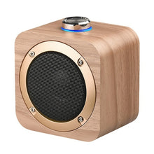 Rechargeable HIFI Portable Wooden Wireless Speakers
