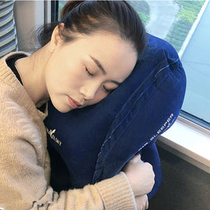 Upgraded Inflatable Air Cushion Travel Pillow Headrest Chin Support Cushions for Airplane Plane Car Office Rest Neck Nap Pillows