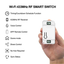 Wifi Smart DIY Light Switch 433MHz RF Switch Glass Touch Panel Smart Home Automation Module Support Alexa Google Home Tuya App